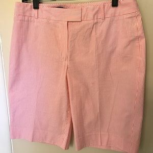 Women's 8 Brooks Brothers Shorts Pink Stripe